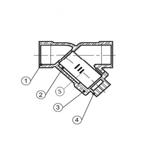 Фильтр чугунный сетчатый резьбовой с магнитной вставкой ЮБС1711 (ду 25)