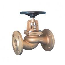 Клапан проходной невозвратно-запорный бронзовый фланцевый ЮБС1519 (ду 15)
