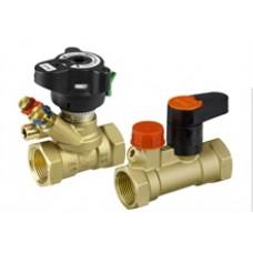Комплект балансировочного клапана Danfoss MVT и запорного клапана MSV-S  (ду 15)