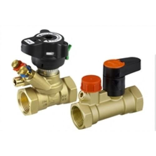 Комплект балансировочного клапана Danfoss MVT и запорного клапана MSV-S  (ду 32)