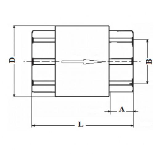 Клапан обратный латунный муфтовый ЮБС1607 (ду 20)
