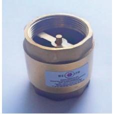Клапан обратный латунный муфтовый ЮБС1607 (ду 15)