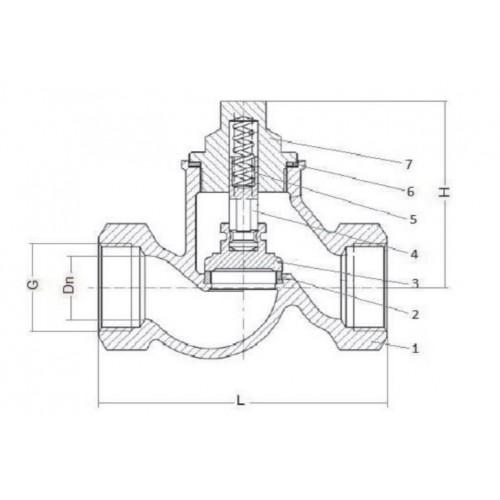 Клапан обратный подъемный муфтовый чугунный ЮБС1609  (ду 40)