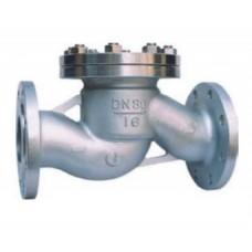 Клапан обратный подъемный подпружиненный фланцевый из нержавеющей стали ЮБС1619 (ду 32)