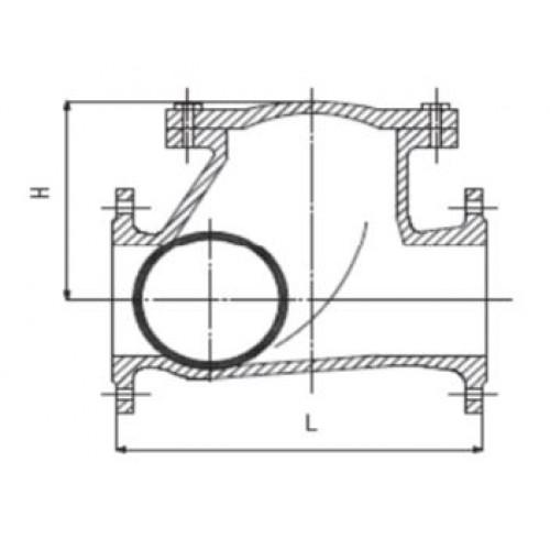 Клапан обратный шаровой фланцевый ЮБС1912 (ду 200)