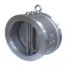 Клапан обратный двухстворчатый межфланцевый из нержавеющей стали ЮБС1915 (ду 50)