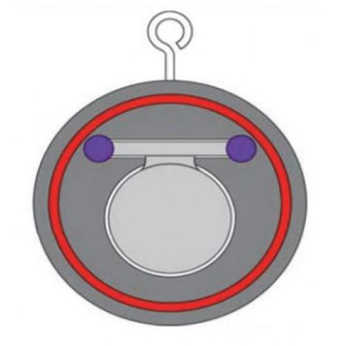 Клапан обратный одностворчатый межфланцевый ЮБС1916 (ду 250)