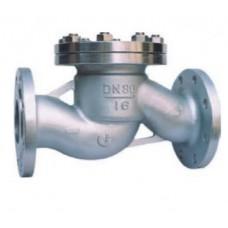 Клапан обратный подъемный фланцевый из нержавеющей стали ЮБС1617 (ду 32)