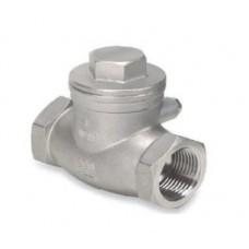 Клапан обратный поворотный из нержавеющей стали с резьбовым присоединением ЮБС1918 (ду 15)