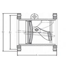 Клапан обратный поворотный фланцевый ЮБС1929 (ду 200)