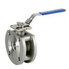 Кран шаровой полнопроходной компактный из нержавеющей стали фланцевый VANTA 44-020 (ду 15)