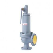 Клапан предохранительный пружинный фланцевый с рукояткой для принудительного открытия тип: 17ЛС16НЖ (ду 50)