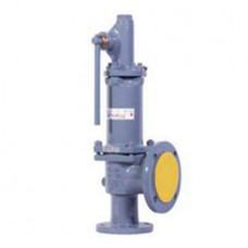 Клапан предохранительный пружинный фланцевый с рукояткой для принудительного открытия тип: 17ЛС17НЖ (ду 200)