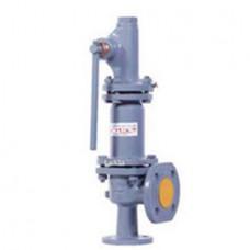 Клапан предохранительный пружинный фланцевый с рукояткой для принудительного открытия тип: 17ЛС21НЖ (ду 32)