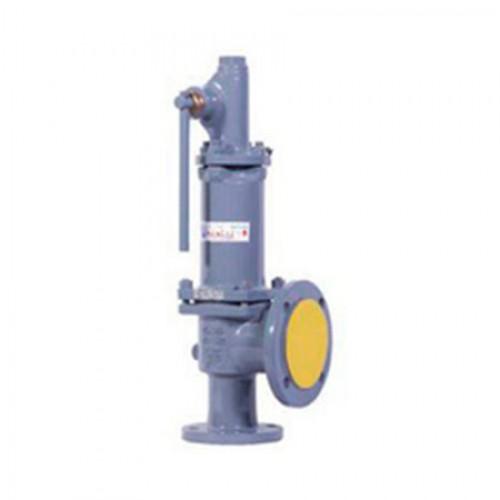 Клапан предохранительный пружинный фланцевый с рукояткой для принудительного открытия тип: 17ЛС6НЖ (ду 25)