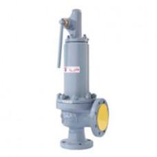 Клапан предохранительный пружинный фланцевый с рукояткой для принудительного открытия тип: 17НЖ16НЖ (ду 50)