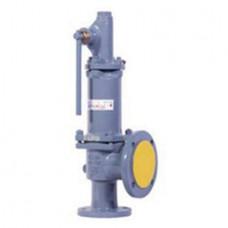 Клапан предохранительный пружинный фланцевый с рукояткой для принудительного открытия тип: 17НЖ17НЖ (ду 200)