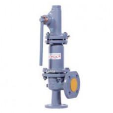 Клапан предохранительный пружинный фланцевый с рукояткой для принудительного открытия тип: 17НЖ21НЖ (ду 32)
