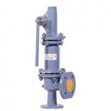 Клапан предохранительный пружинный фланцевый с рукояткой для принудительного открытия тип: 17НЖ25НЖ (ду  25)