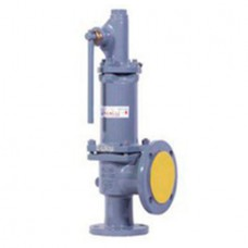 Клапан предохранительный пружинный фланцевый с рукояткой для принудительного открытия тип: 17НЖ6НЖ (ду 25)