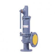 Клапан предохранительный пружинный фланцевый с рукояткой для принудительного открытия тип: 17С17НЖ (ду 200)