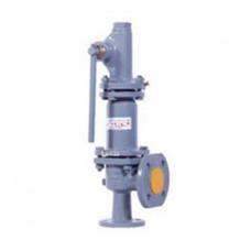 Клапан предохранительный пружинный фланцевый с рукояткой для принудительного открытия тип: 17С25НЖ (ду 25)
