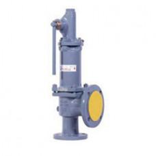 Клапан предохранительный пружинный фланцевый с рукояткой для принудительного открытия тип: 17С6НЖ (ду 25)