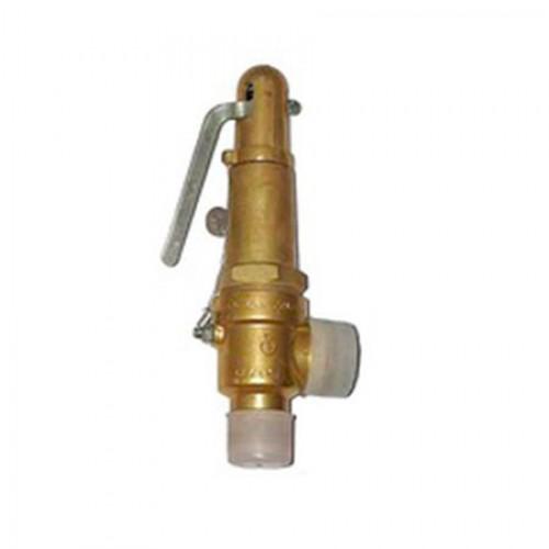 Клапан предохранительный пружинный латунный штуцерный 17Б5БК тип: УФ55105 (ду 25)