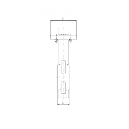 Затвор дисковый поворотный межфланцевый с рукояткой ЮБС 3209 (ду 65)