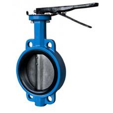 Затвор дисковый поворотный межфланцевый с рукояткой ЮБС 3201 (ду 100)